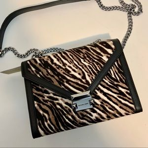 SALE! Michael Kors Black Animal Print Whitney Bag